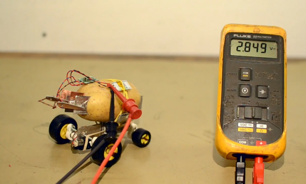 The Self-Powered Driving Potato Pet