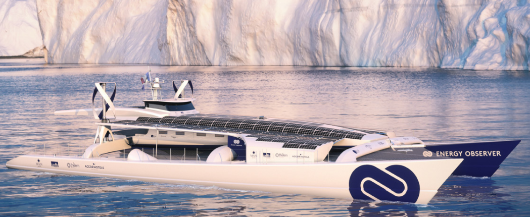 Hydrogen Powered 'Energy Observer' Sets Sail on 6-Year Circumnavigation