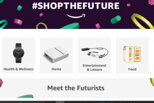 Amazon Shop the Future Home Page