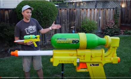Ex-Rocket Scientist Builds World's Largest and Most Powerful Super Soaker