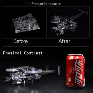 3D Metal Puzzle Scorpion Gunship Aircraft Model Kit